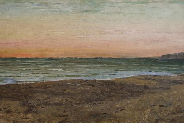 Pietro Aldi, Marina, olio su tavola, cm 19x32