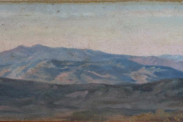 Pietro Aldi, Veduta di Monte Argentario e Isola del Giglio