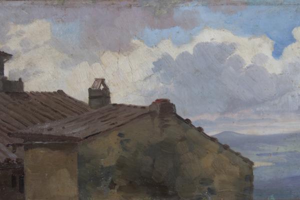 Pietro Aldi, Veduta dal terrazzino di Casa Aldi
