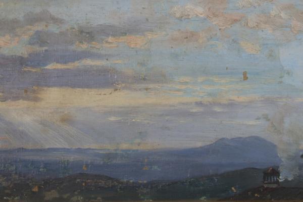 Pietro Aldi, Veduta verso Montalto da Casa Aldi