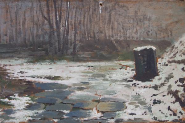 Pietro Aldi, Campagna invernale con neve
